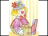Clown sitting down