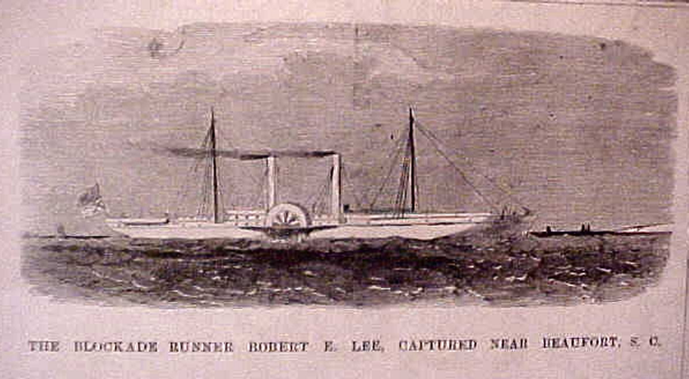 Yankee Paddle Steamer Robert E Lee