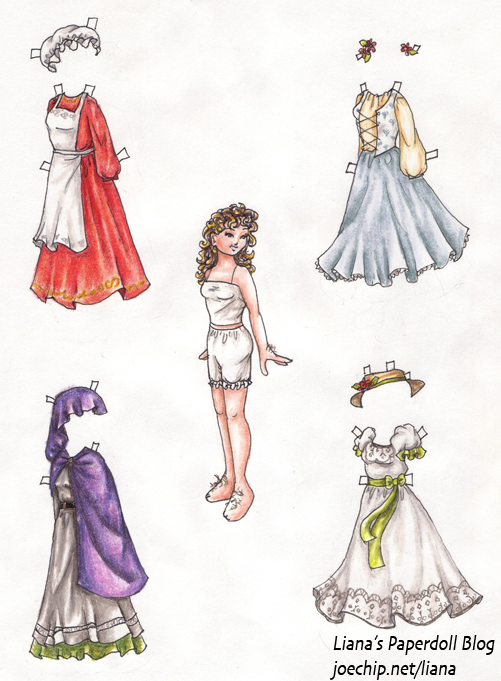 four costumes and a doll, by Liana xx