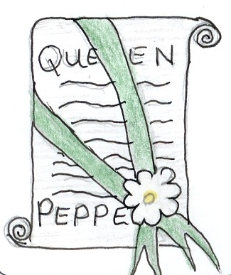 Queen Pepper's sash was green