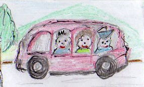 Can you see Toby and Tilly on the Bus?